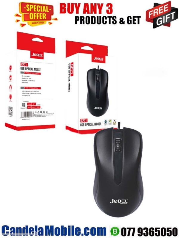 Jedel CP71 USB Wired Optical Mouse