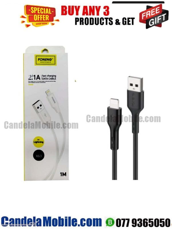 FONENG iPhone Data Cable Fast Charging lightning Cable-(X-63)