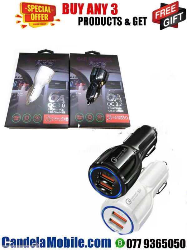 Qualcomm USB Vehicle Phone Charger-3.1A
