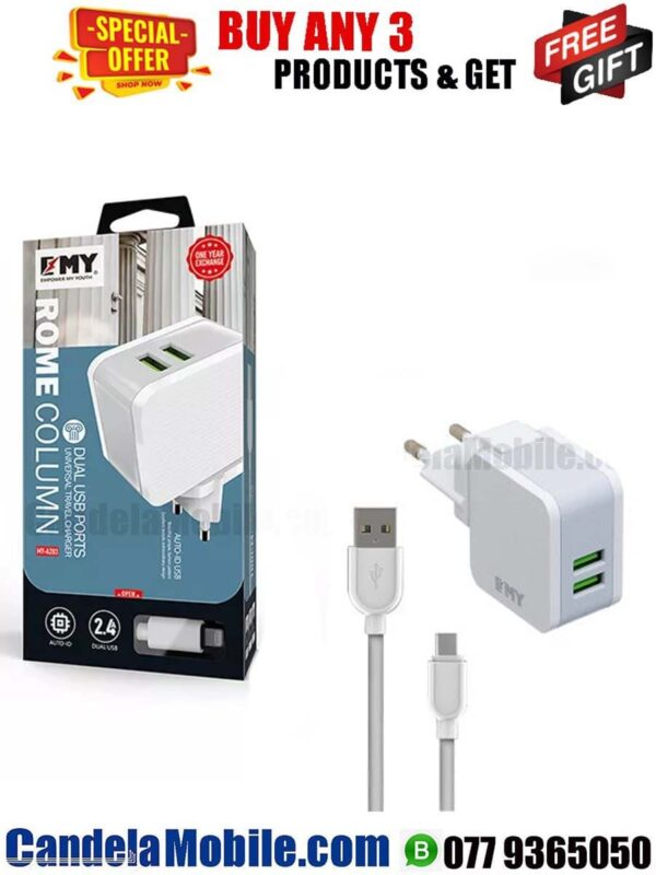EMY A203 Universal Travel Charger