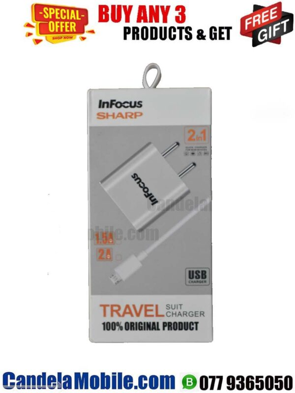 Infocus 1.5A Micro USB Travel Charger