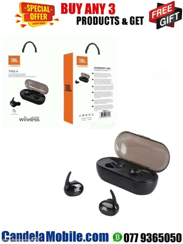 JBL TWS-4 Airpods For Android & iPhone Wireless Headset