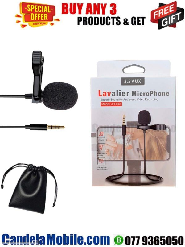 Lavalier JH-043 Clip-On Microphone 3.5mm