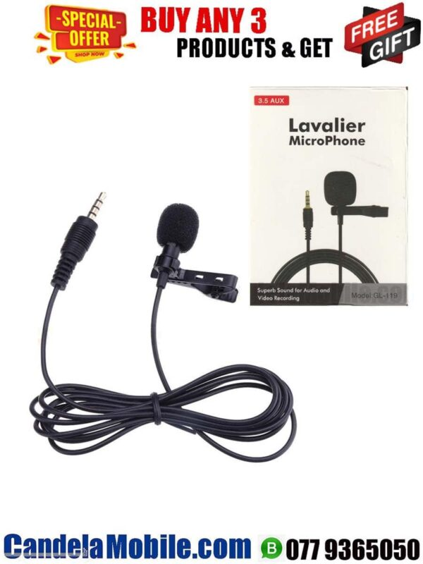 Lavalier GL-119 Clip-On Microphone 3.5mm
