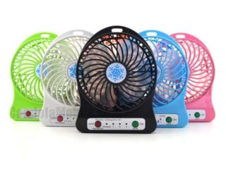 USB Rechargeable Fan 100% Brand New and High Quality High Speed Fan 3 Speed Level Very Small & Compact Size Rechargeable Battery The product has a rechargeable battery . If customers wants continuous usage then they have to connect it to USB power externally.