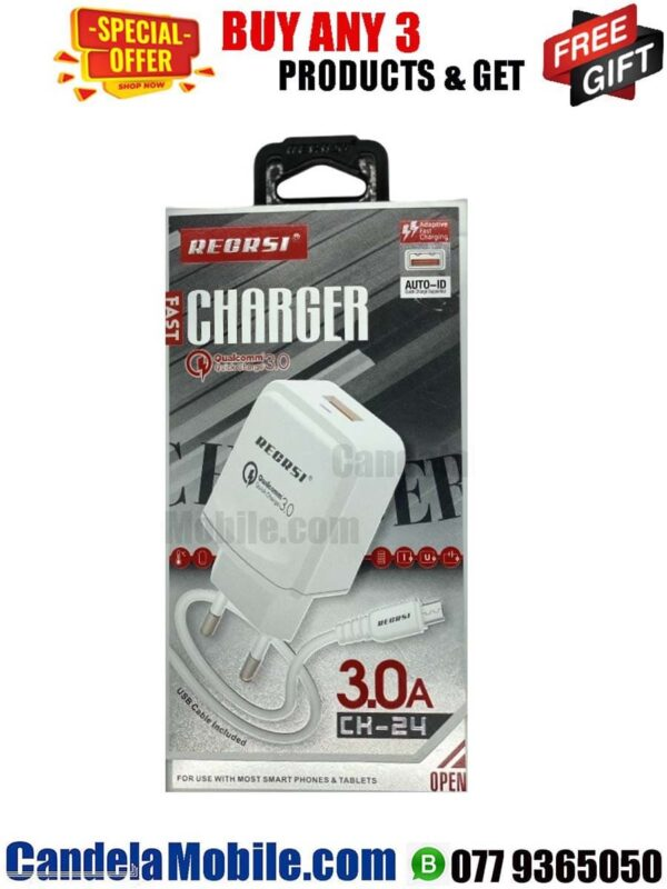 RECRSI CH-24 3.0A Type-C Fast Charger