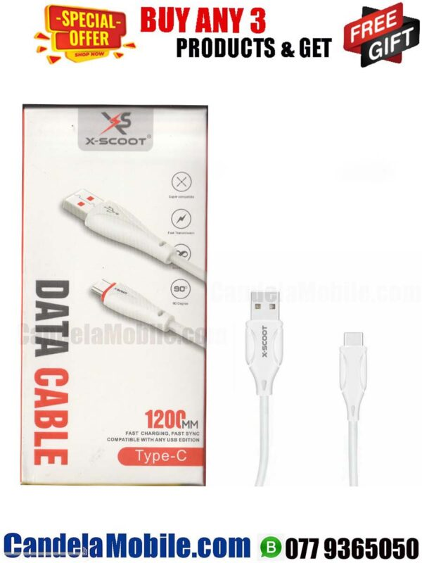 X-SCOOT Type-C Data Cable Fast Charging USB Cable