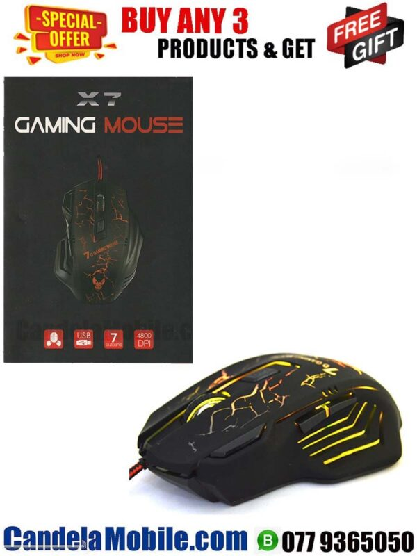 X7 USB Wired Gaming Mouse